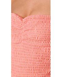 Tori Praver Swimwear | Pink Lucy Strapless One Piece | Lyst