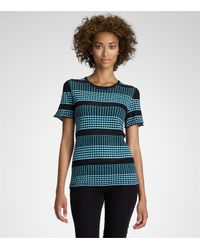 Tory Burch | Blue Zinga Top | Lyst