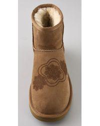 UGG - Brown Classic Mini Kimono Boots - Lyst