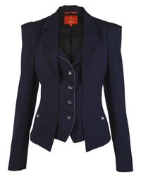 Vivienne Westwood Red Label - Blue Classic Navy Jacket with Waistcoat - Lyst
