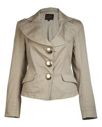 Vivienne Westwood Anglomania | Natural Beige Three Button Jacket | Lyst