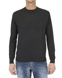 Ballantyne | Black Round Neck Cashmere Knit Sweater for Men | Lyst
