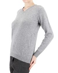 Beayukmui - Gray Cashmere Knit Crystal Sweater - Lyst