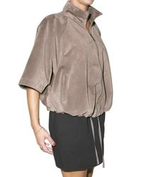 Blancha | Brown Suede Leather Jacket | Lyst