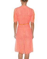 Christopher Kane - Orange Lace Dress - Lyst