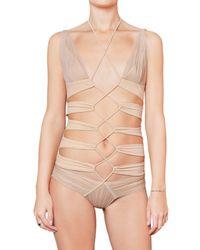 DSquared² | Natural Cut Out Lycra Bathing Suit | Lyst
