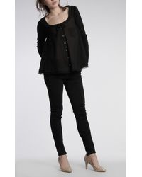 Elizabeth and James | Black Clara Top | Lyst