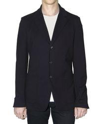 Jil Sander | Blue Stretch Jersey Jacket for Men | Lyst