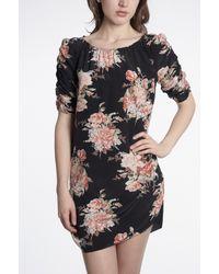 Joie | Black Elka Floral Dress | Lyst