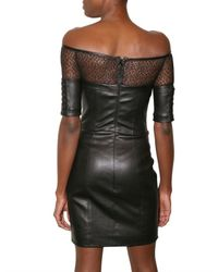 Kevork Kiledjian | Black Braided Leather and Lace Dress | Lyst