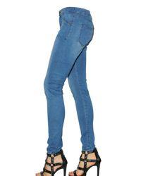 Kova & T - Blue Ligth Stretch Denim Leggings - Lyst