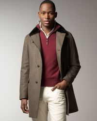 Loro Piana - Brown Wool-cashmere Storm Jacket for Men - Lyst