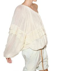 Mes Demoiselles | White Cotton Gauze Shirt | Lyst
