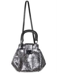 Pauric Sweeney | Metallic Shiny Python Crossbody Shoulder Bag | Lyst