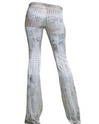 Roberto Cavalli | Gray Croc Print Satin Trousers | Lyst