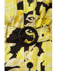 See By Chloé - Yellow Hooded Floral-print Coat - Lyst