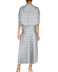 Stella McCartney - Blue Pleated Capelet-back Dress - Lyst