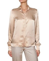 Stella McCartney | Pink Washed Satin Shirt | Lyst