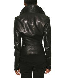 Todd Lynn | Black Puff Sleeve Leather Jacket | Lyst
