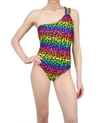 Triya | Multicolor Leopard Whole Bathing Suit | Lyst