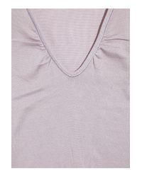 Vanessa Bruno   Purple V-neck Brushed-cotton Tank   Lyst