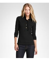 Tory Burch - Black Long-sleeve Lidia Polo - Lyst