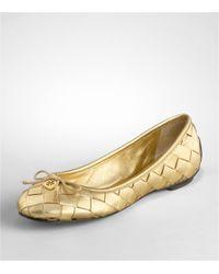 Tory Burch | Metallic Prescot Ballet Flat | Lyst
