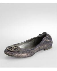 Tory Burch - Vintage Metallic Reva Ballerina Flat - Lyst