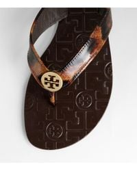 Tory Burch - Multicolor Patent Leopard Thora - Lyst