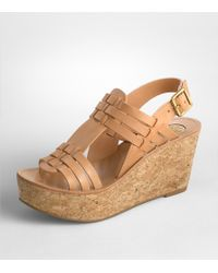 Tory Burch - Natural Lorraine Woven Wedge - Lyst