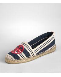 Tory Burch | Blue A-line Stripe Espadrilles | Lyst
