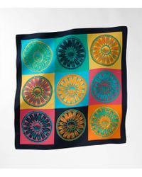 Tory Burch | Multicolor Foundation Silk Scarf | Lyst