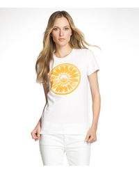 Tory Burch | White Foundation T Shirt | Lyst