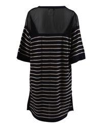 Sonia by Sonia Rykiel - Black Mesh Top Stripe Dress - Lyst