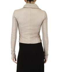 Rick Owens | Natural Leather Jacket | Lyst