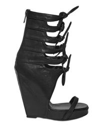 Rick Owens - Black 140mm Multi Knot Open Toe Boot Wedges - Lyst