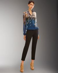 Akris | Blue Printed Silk Shirt | Lyst