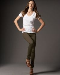 Current/Elliott | Green The Leggings, Dark Olive | Lyst