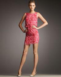 Giambattista Valli | Pink Floral-print Silk-chiffon Dress | Lyst