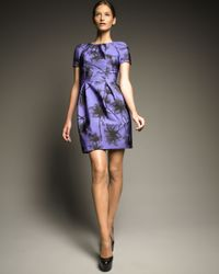 Jason Wu | Purple Flower-print Faille Dress | Lyst