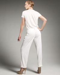 Loro Piana | White Wide-leg Linen Pants | Lyst