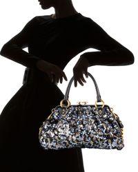Marc Jacobs | Black Tweed Sequin Stam Satchel | Lyst