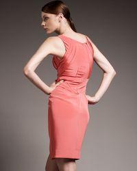 Zac Posen | Pink Seamed-waist Dress | Lyst