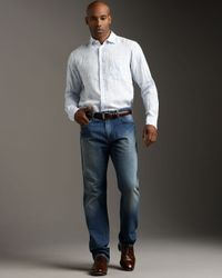 Zegna Sport | Blue Relaxed Five-pocket Jeans for Men | Lyst
