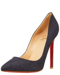 Christian Louboutin | Blue Pigalle Denim Pump | Lyst