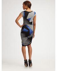 BCBGMAXAZRIA | Blue Dell Side-zipper Dress | Lyst