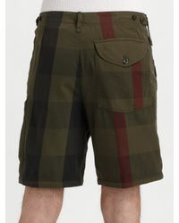 Burberry Brit | Green Overdyed Shorts for Men | Lyst