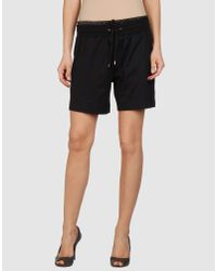 Dolce & Gabbana | Black Flat-front Shorts | Lyst
