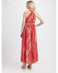 Gryphon - Pink Silk Halter Dress - Lyst