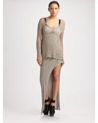 Helmut Lang | Natural Irregular Scoopneck Sweater | Lyst